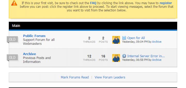 Public Webmaster Forum