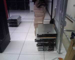 Stacks of New Powerful Dell Xeon 2950s and 1950s