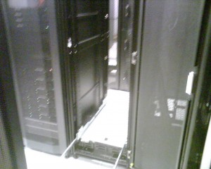 New Server Rack. First server going in.