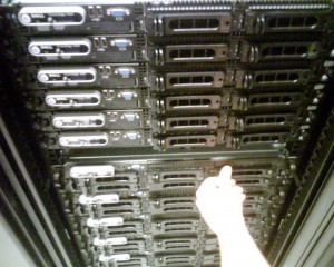 First Set of New Servers (15) Installed