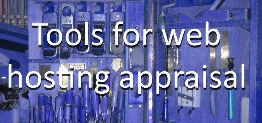 Tools for web hosting appraisal